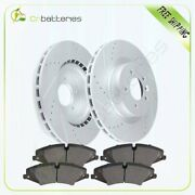 Front Brake Rotors And Ceramic Pads For Land Rover Lr4 Hse 2010-2012