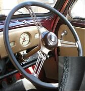 For Vw Beetle Kafer 1951 1973 Real Leather Steering Wheel Cover Thread Selection