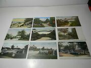 Vintage Lake Park Milwaukee Wisconsin Lot Of 9 Postcards Udb To Linen - P01