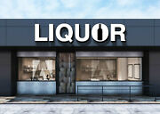 Liquor Sign Illuminated Led Channel Letters Storefront Outdoor Signage