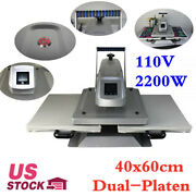 16x24in Dual Station Clamshell T Shirt Sublimation Heat Press Machine 110v 2200w
