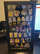Lakers Kobe Bryant-lebron James 40 Lapel-hat-jersey Pins Collection Case Frame