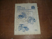 Ford New Holland 8240 And 8340 Sle Tractor W/cab Owner Operator Maintenance Manual