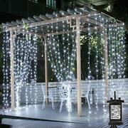 Le Outdoor Gazebo Lights Mains Powered Cool White Curtain Lights 8 Modes 3mx3m