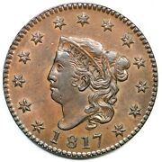 1817 N-11 Matron Or Coronet Head Large Cent Coin 1c