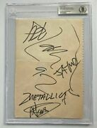 🔥metallica James Lars Kirk Jason Signed Autograph Page Beckett Authenticated