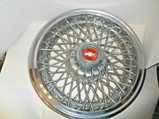 Vintage Chevrolet Wire Spoke Wheel Cover Red Bow Tie