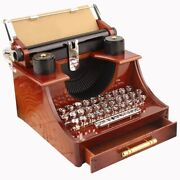 30xhome Retro Vintage Typewriter Music Box For Home Room Office Mechanical