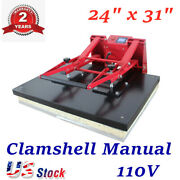 Usa 110v 24 X 31 Clamshell Manual Large Format Sublimation Heat Press Machine