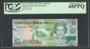 Cayman Islands 5 Dollars 2010 P39a Uncirculated Graded 68