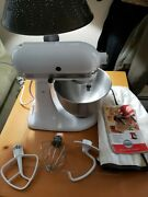 Kitchenaid Classic Series Tilt-head Mixer K45sswh With Attachments And Bowl