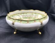 Noritake Nippon Hand Painted, Gold Leaf With Enamel Raised Design Footed Bowl