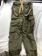 Vintage Wwii Army Air Forces Flying Trousers W/suspenders Type A-11 Size 32