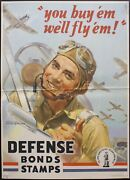 1942 You Buy And039em Weand039ll Fly And039em Defense Bonds Stamps Walter Wilkinson Wwii Poster