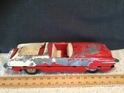 """Lg 16"""" Vintage Irwin Toy Co. Diecast Metal Toy Convertible Car-parts/restoration"""