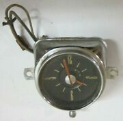 1949 - 1950 Ford Dash Clock Instrument Used Orig Aug 49 Date 49 50 Hot Rod Scta