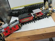 New Bright The Great American Express Train Engine Tender Caboose Track G Scale