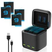 Gopro 9 Battery Charger Smart Fast Charging Case 1750mah Li-ion Battery Storage