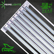 T8 Led High Bay Warehouse Shop Commercial Light Fixture Lamps Included Stingray