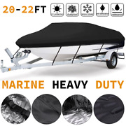 Boat Cover 20-22 💦 Marines Heavy Duty Protector Trailable Boat Cover Waterproof