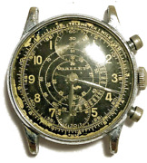 Gallet Mens Vintage Gallet Chronograph Dial And Movement In Custom Case For Repair
