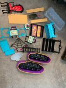 Monster High Doll Furniture And Accessories Lot Used Coffin Bean Abbey And Clawdee