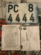 License Plate Italy Italian Number Plates Vintage Truck Fiat 1100 With Documents