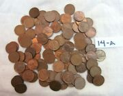 Lot 95 1944 Lincoln Copper Wheat Pennies From Estate Us Coins Unsearched