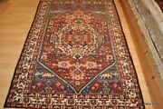 5' X 7' One Of A Kind Kurdish Bakhtyar Collectible Tribal Rug With Natural Color