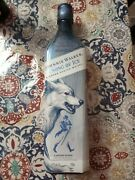 Game Of Thrones Johnnie Walker Scotch Song Of Ice Bottle Empty Collectible Wolf