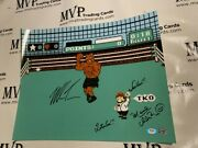 Psa/dna Mike Tyson And Charles Martinet Signed 16x20 Mike Tyson's Punch Out Photo