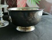 Beautiful Paul Revere Reproduction-vintage Silverplated Pedestal Footed Bowl-