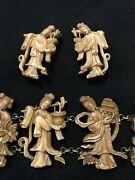 Inv 400 - Rare Antique Chinese Bracelet And Earring Set