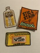 Vintage 1970andrsquos Wacky Packages Patches Lot Of 3.