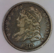 1835 Capped Liberty Draped Bust Dime Very Fine High Grade Type Coin 3