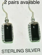 Sterling Silver Native Ameican Onyx Dangle Earrins Nwt Not Scrap