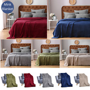 Faux Fur Blanket For Sofa And Bed Mink Micro Throw Plush Warm Soft Fleece Blankets