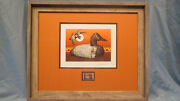 Larry Hayden 1979 First Nevada Duck Stamp And Print Tule Canvasback Decoy