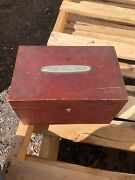 Vintage Custom Made Mahogany Sewing Tools Box Margaret Wwii Age 1944 From Jerry