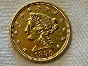 1896 2.50 Gold Quarter Eagle. Mintage 19202 Never Cleaned - Nice Coin Top Au
