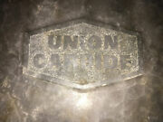 """Vintage Union Carbide Advertising Ashtray Great Cond Cigarette Cigar 10.5"""" Large"""