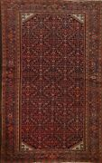 Pre-1900 Antique Geometric Traditional Oriental Area Rug Hand-knotted 4x7 Carpet