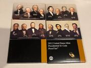6- Presidential Proof Sets 200720082009201020112012 Boxes And Coa Included