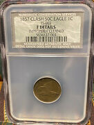1857 Flying Eagle Cent Clash 50-cent F Details Ncs Not Ngc