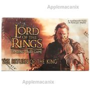 Lord Rings Tcg Ccg Lotr Return Of The King Booster Box 36 Packs Factory Sealed