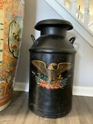 Vintage Country Milk Steel Jug With Removable Lid