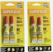 Lot Of 2 The Original Super Glue Tube 2-pack For Metal Wood Rubber And Plastic