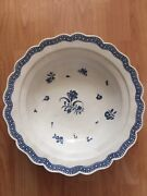 Worcester Porcelain Rare Massive Charger With Flowers And Insects C1775 14.4''