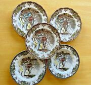 Johnson Brothers England 1950and039s Friendly Village Sugar Maples Bread Plates 5