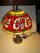Lot Of Coca Cola Coke Collectibles Lamp, Trays, Wall Hanging, Straw Holder